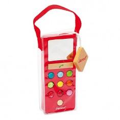 Téléphone en bois Mobilo Sonore I Wood : Rouge