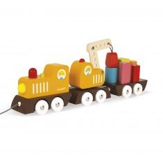 Train Grue Multi Colors en bois