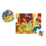 Valisette ronde : puzzle dinosaures 24 pièces
