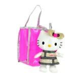 Peluche Hello Kitty dans sac de shopping