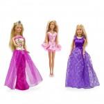 Garde-robe pour poupée mannequin Jenny : Accesoires et 3 robes dont robe violette