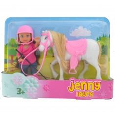 Laura et son poney blanc