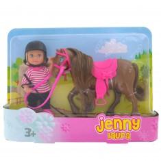 Laura et son poney marron foncé