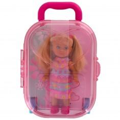 Poupée Jenny : Laura dans sa valise rose