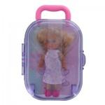 Poupée Jenny : Laura dans sa valise violette