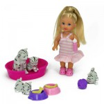 Poupée Jenny : Laura et ses petits animaux : Chats gris