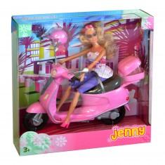 Poupée Jenny et son scooter