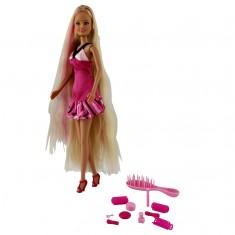 Poupée mannequin rose Jenny longue chevelure