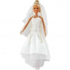 Poupée Jenny Mariée : Robe de mariée motifs arabesques