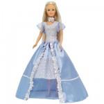 Poupée Jenny romantique : Robe bleue