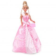 Poupée Jenny romantique : Robe rose