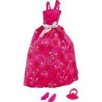 Vêtements pour poupée Jenny : Robe de soirée Fuchsia
