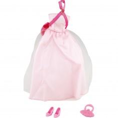 Vêtements pour poupée Jenny : Robe de soirée rose pâle