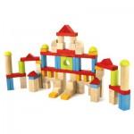 Blocs de construction : 82 pièces en bois