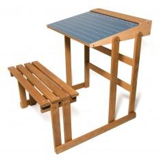 Bureau d'écolier en bois