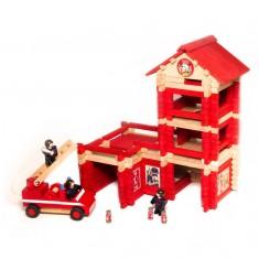 Caserne de pompiers avec camion : 210 pièces