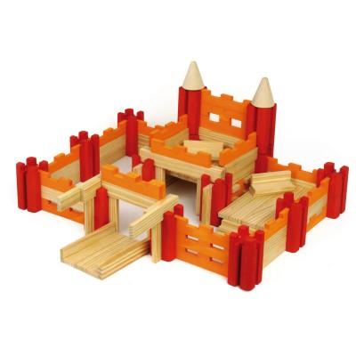 ch teau en bois construire en 120 pi ces jeux et jouets jeujura avenue des jeux. Black Bedroom Furniture Sets. Home Design Ideas