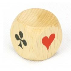 Dé d'atout du jeu de Belote en bois