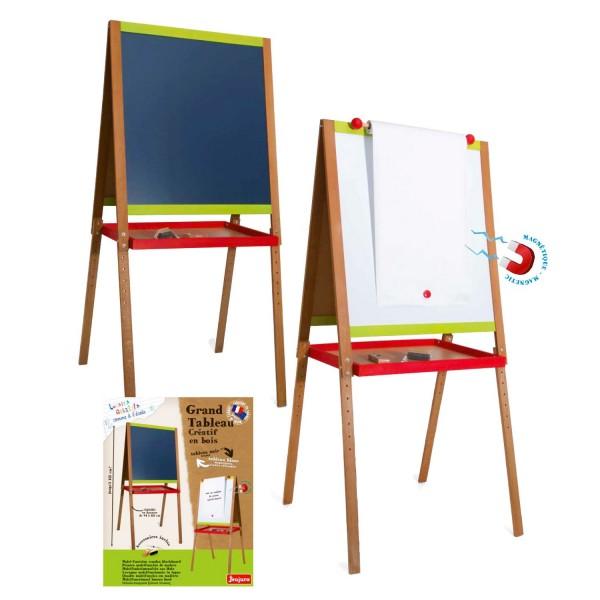 grand tableau cr atif en bois avec fonction dessin jeux et jouets jeujura avenue des jeux. Black Bedroom Furniture Sets. Home Design Ideas