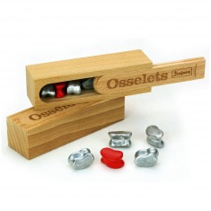 Jeu des osselets : Coffret en bois