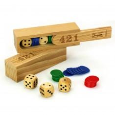 Jeu du 421 : Coffret en bois