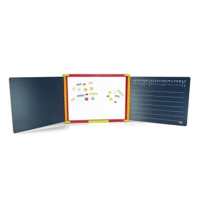 Tableau triptyque en bois teinté magnétique - Jeujura-8796