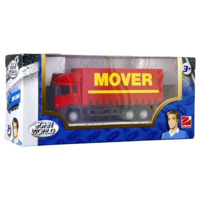 camion de transport rouge jeux et jouets john world avenue des jeux. Black Bedroom Furniture Sets. Home Design Ideas