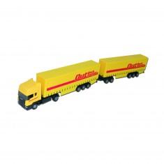 Camion Semi-remorque avec remorque jaune