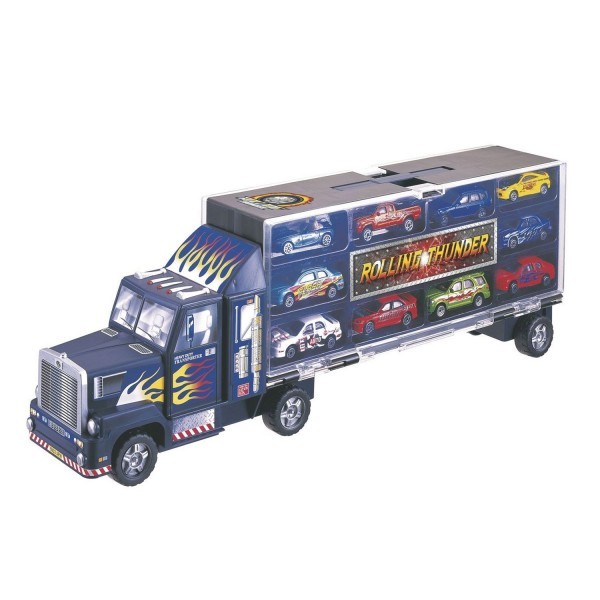 camion transporteur et 10 voitures jeux et jouets john world avenue des jeux. Black Bedroom Furniture Sets. Home Design Ideas