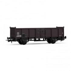 Véhicule pour circuit de train : Wagon tombereau marron à deux essieux