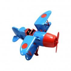 Avion vintage bleu et rouge