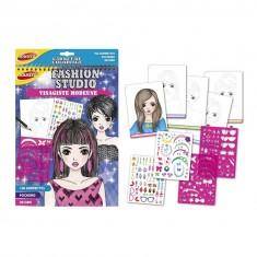 Carnet de coloriage Fashion Studio : Visagiste modeuse