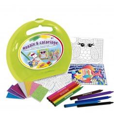 Mallette ronde : Mosaix Coloriage