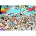 Puzzle 1000 pièces - Jan Van Haasteren : A la plage