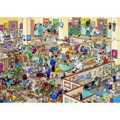 Puzzle 1000 pièces - Jan Van Haasteren : Bon rétablissement