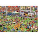 Puzzle 1000 pièces - Jan Van Haasteren : Coup de tête