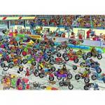 Puzzle 1000 pièces - Jan Van Haasteren : Course de motos
