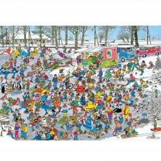 Puzzle 1000 pièces - Jan Van Haasteren : Sur la glace