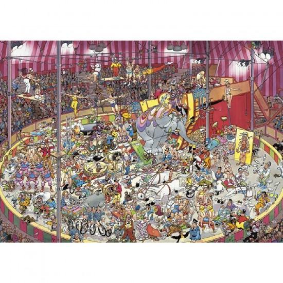 Puzzle 1000 pièces - Jan Van Haasteren : Dans le cirque - Jumbo-01470