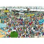 Puzzle 1000 pièces - Jan Van Haasteren : Hall des départs