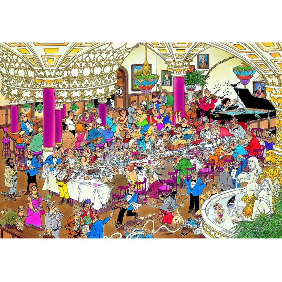 Puzzle 1000 pièces - Jan Van Haasteren : La noce - Jumbo-01642