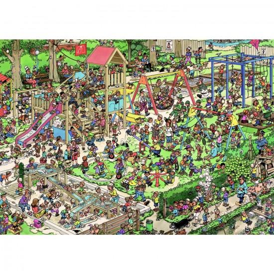 Puzzle 1000 pièces - Jan Van Haasteren : Le jardin public - Jumbo-01599