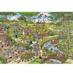 Puzzle 1000 pièces - Jan Van Haasteren : Le Parc