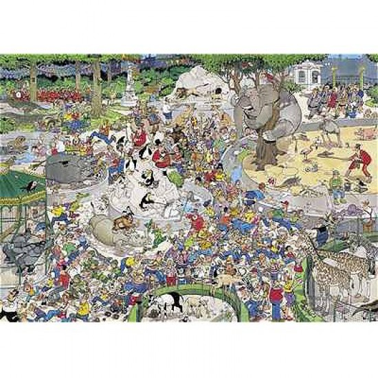 Puzzle 1000 pièces - Jan Van Haasteren : Le Zoo - Diset-Jumbo-01491
