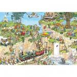 Puzzle 1500 pièces - Jan Van Haasteren : Le cours de golf