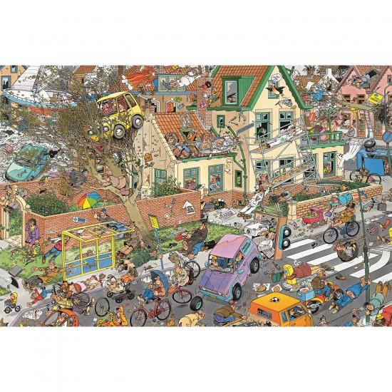 Puzzle 1500 pièces - Jan Van Haasteren : La tempête - Diset-Jumbo-01498