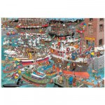 Puzzle 1500 pièces - Jan Van Haasteren : Le port en folie