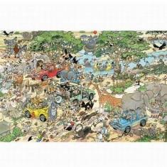 Puzzle 1500 pièces - Jan Van Haasteren : Le safari