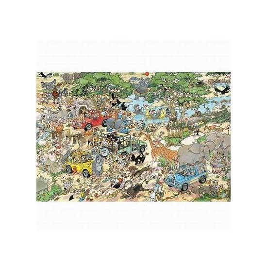 Puzzle 1500 pièces - Jan Van Haasteren : Le safari - Diset-Jumbo-17016