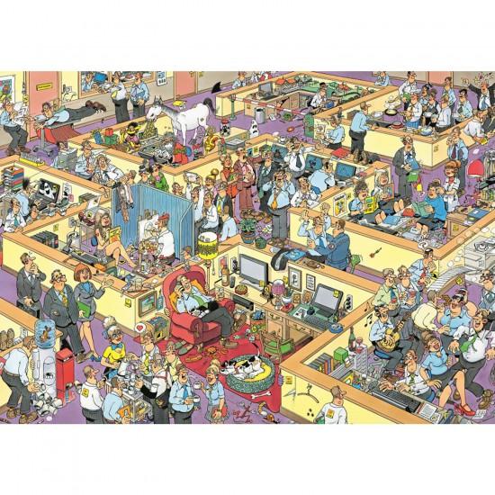 Puzzle 2000 pièces - Jan Van Haasteren : Le bureau - Diset-Jumbo-17015